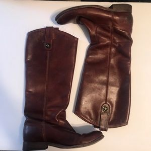 Leather FRYE Boots 6B Melissa 77167 Button Riding